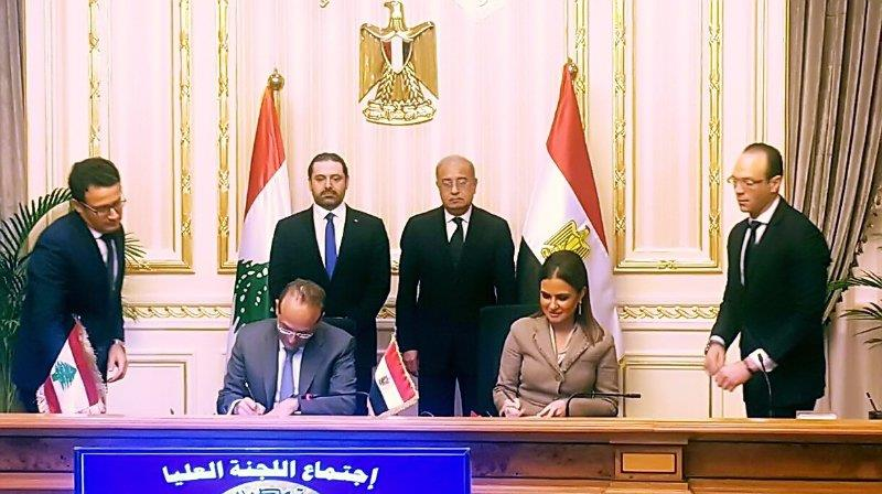 Egypt- Nasr signs 7 cooperative agreements with Lebanon
