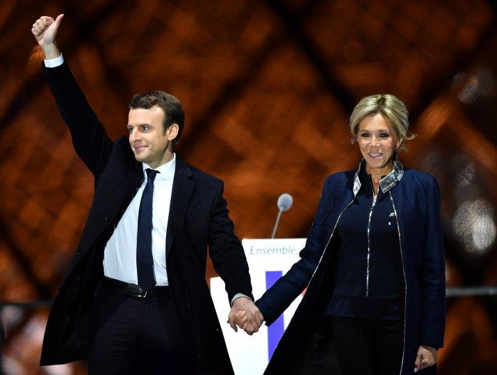 Asian shares show relief over French moderate Macron's win